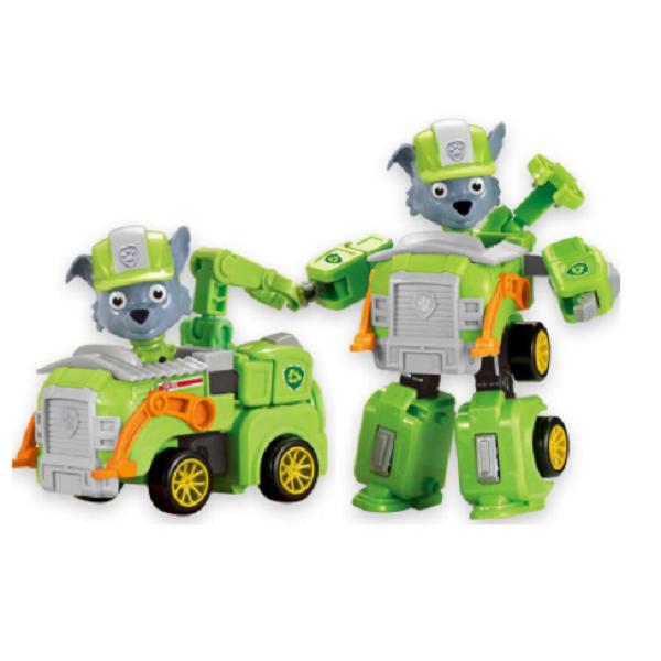 اسباب بازی تبدیل شونده سگ نگهبان کد A018-1 رنگ سبز
