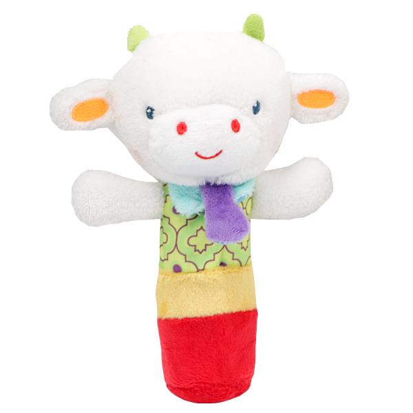 عروسک سوسیسی طرح گاو سفید شاخ دار