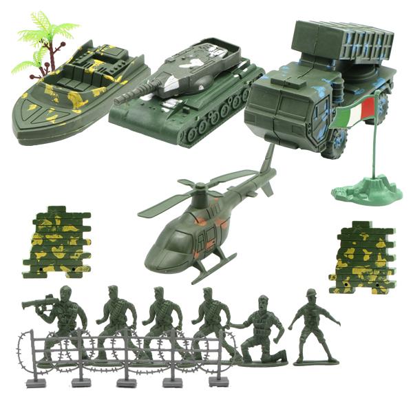مجموعه اکشن فیگور سربازان و تجهیزات جنگی کد 821A