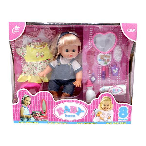 عروسک دختر بیبی بورن BABY born همراه با لباس اضافه مدل 215