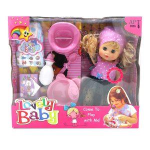 عروسک دختر بیبی لاولی BABY LOVELY مدل 109 صورتی