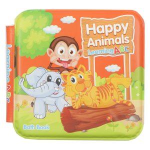 کتاب حمام سوتی Bath book طرح Happy Animals