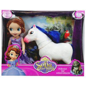 ست اسباب بازی عروسک سوفیا و حیوانات
