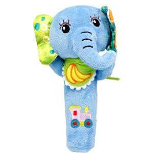 جغجغه ی سوتی سوسیسی طرح فیل آبی KENZA