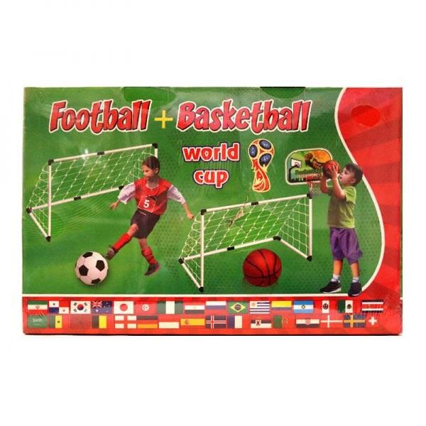 اسباب بازی دروازه فوتبال و تخته بسکتبال مدل 2in1