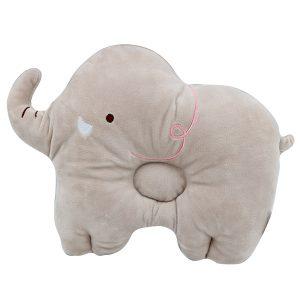 بالش فرم دهی سر نوزاد مدل فیل رنگ فیلی