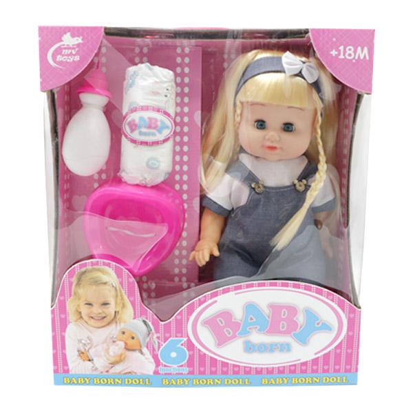 عروسک دختر لباس آبی بیبی بورن BABY born مدل 677