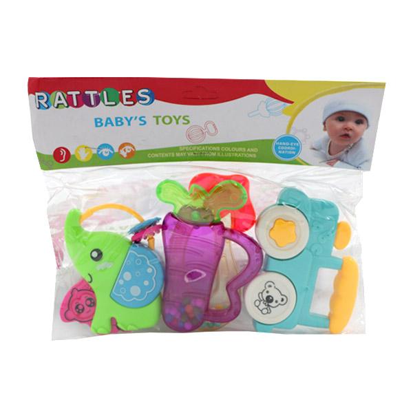 ست جغجغه و دندانگیر پسرانه RATTLES بسته 5 عددی طرح فیل