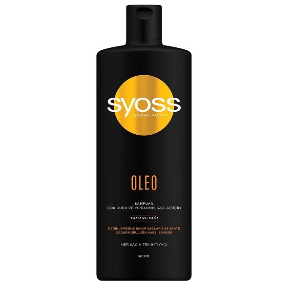 شامپو موهای خشک و آسیب دیده سایوس SYOSS مدل OLEO حجم 500 میل