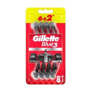 خود تراش ژیلت مدل Blue 3 بسته 8 عددی