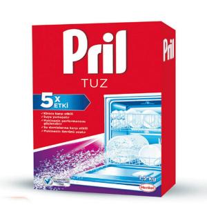 نمک مخصوص ماشین ظرف شویی 5 کاره پریل Pril حجم 1.5 کیلو گرمی