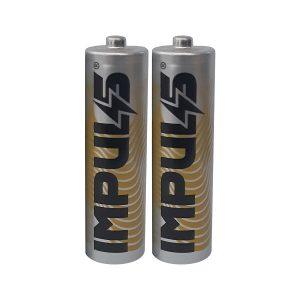 باتری نیم قلمی ایمپالس  IMPULS مدل Carbon base بسته 2 عددی