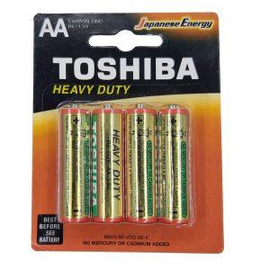 باتری قلمی TOSHIBA مدل HEAVY DUTY بسته 4 عددی
