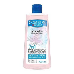 محلول پاک کننده آرایش صورت مناسب پوست های چرب و جوشدار کامان