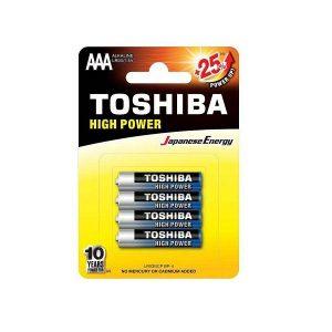 باتری نیم قلمی TOSHIBA مدل HIGH POWER بسته 4 عددی