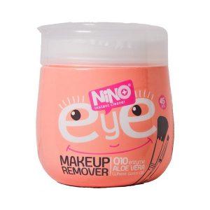 دستمال پاک کننده آرایش چشم نینو بسته 45 عددی