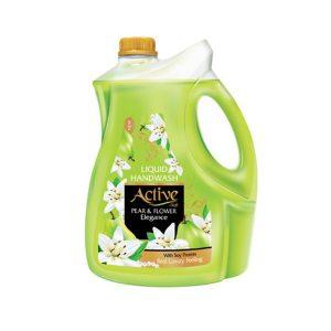 مایع دستشویی اکتیو حاوی پروتیین سویا حجم 3750 گرم سبز