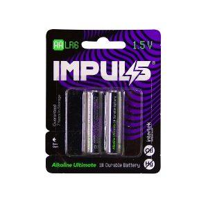 باتری قلمی ایمپالس IMPULS مدل LR6 بسته 2 عددی