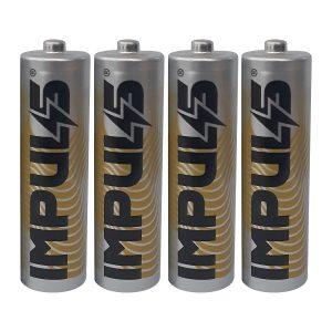 باتری قلمی ایمپالس IMPULS مدل Carbon base بسته 4 عددی