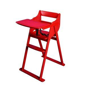 صندلی غذاخوری تاشو کودک هلورک HELOORK رنگ قرمز