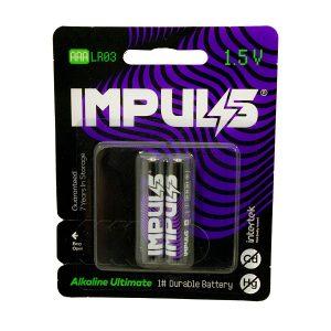 باتری نیم قلمی ایمپالس  IMPULS مدل LR03 بسته 2 عددی
