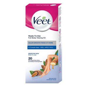 نوار موبر بدن ویت Veet مخصوص پوست های حساس بسته 20 عددی
