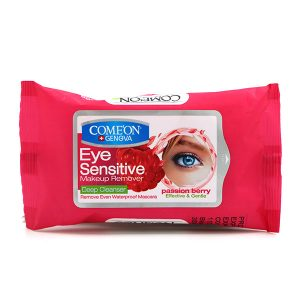 دستمال مرطوب پاک کننده آرایش چشم کامان 10برگی