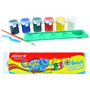 گواش پالت دار 6 رنگ آریا کد 4009