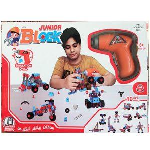 لگو ساختنی همراه با دریل مدل Junior Block بسته 286 تکه