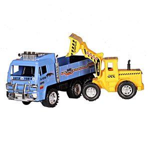 ماشین بازی طرح کامیون حمل لودر مجموعه 2 عددی
