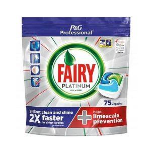 قرص ماشین ظرفشویی فیری fairy سری جار حاوی پلاتینیوم بسته 75 عددی