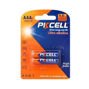 باتری نیم قلمی PKCELL مدل Ultra alkaline بسته 2 عددی
