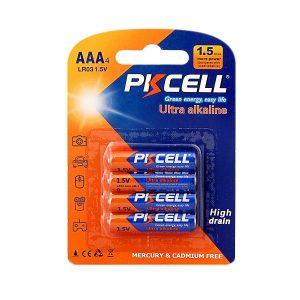 باتری نیم قلمی PKCELL مدل Ultra alkaline بسته 4 عددی