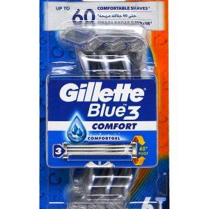 خود تراش ژیلت مدل Blue 3 بسته 6 عددی