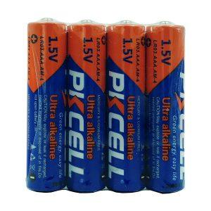 باتری نیم قلمی PKCELL مدل Ultra alkaline شرینک 4 عددی