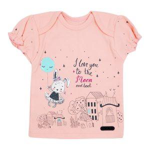 تی شرت دخترانه آستین کوتاه کوکالو طرح خرگوش در شهر
