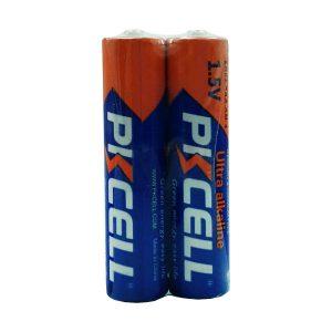 باتری نیم قلمی PKCELL مدل Ultra alkaline شرینک 2 عددی