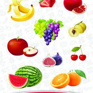 اسباب بازی جورچین (پازل) میوه ها