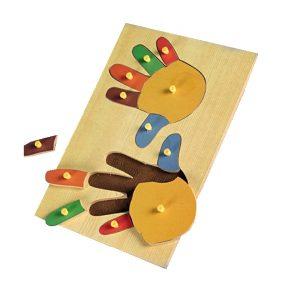 اسباب بازی پازل چوبی دست پین دار