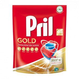 قرص ماشین ظرفشویی پریل (Pril) طلایی بسته 45 عددی