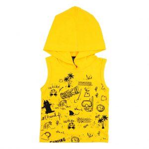 هودی آستین حلقه ای پسرانه Top Kids کد 1175 رنگ زرد