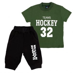 ست تی شرت و شلوارک پسرانه Top Kids کد 1167 رنگ سبز