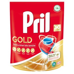 قرص ماشین ظرفشویی پریل (Pril) طلایی بسته 30 عددی