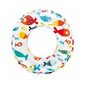 حلقه شناور بادی کودک اینتکس INTEX طرح ماهی
