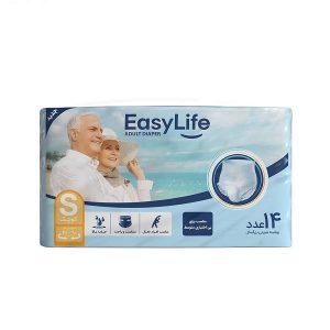 پوشک بزرگسال شورتی ایزی لایف Easy Life سایز S بسته 14 عددی