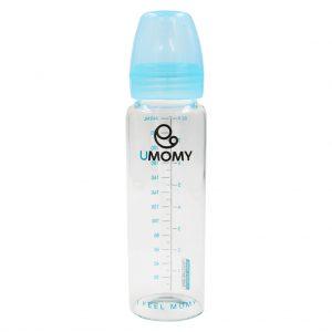 شیشه شیر پیرکس یومامی UMOMY مدل کلاسیک آبی ظرفیت 240 میل