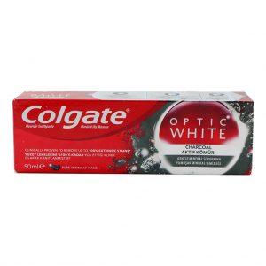 خمیر دندان Colgate مدل OPTIC WHITE حجم 50 میل