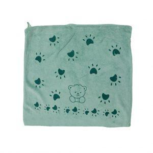 دستمال آبگیری و نظافت 40*40 سانتی متر طرح خرس سبز