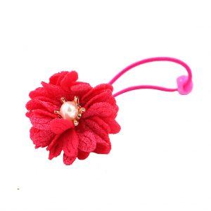 کش سر دخترانه مدل گل مرواریدی رنگ سرخابی