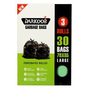 کیسه زباله پرفراژدار دارکوب 3 رول بزرگ سبز 30 عددی